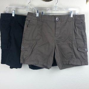 Bundle of 2 Style & Co 16 elastic waist mom shorts